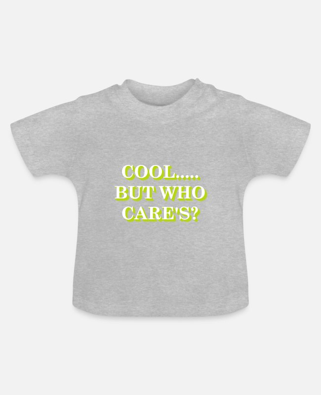 Trendy Baby T-Shirts - Coo but....gelb/yellow - Baby T-Shirt Grau meliert