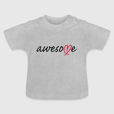 Awesome Herz - Baby T-Shirt
