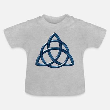 Celtic Encircled Triquetra Circle - Baby T-Shirt