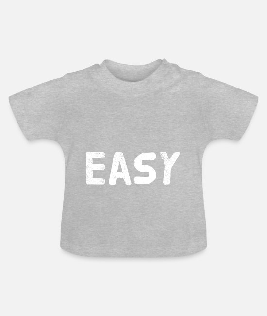 Young Baby T-Shirts - Easy - Baby T-Shirt heather grey