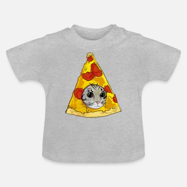 Meme pizza cat meme - Baby T-shirt