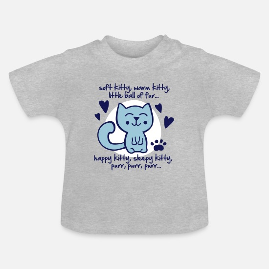 Penny Bebiskläder - soft kitty, warm kitty, little ball of fur... - T-shirt baby gråmelerad