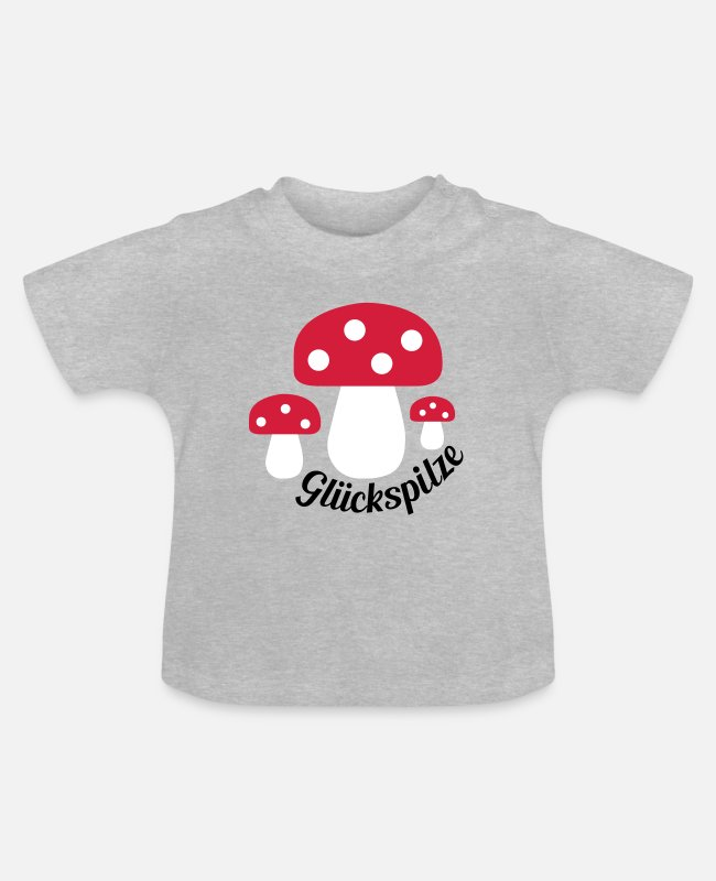 Group Baby T-Shirts - lucky - Baby T-Shirt heather grey