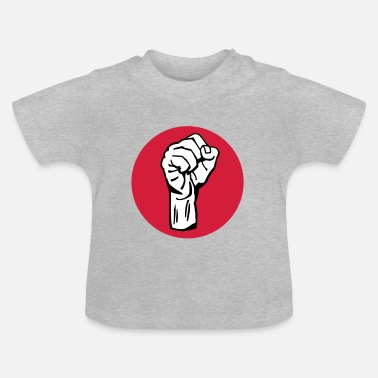 Che Guevara fist / fight / revolution 3c round - Baby T-shirt