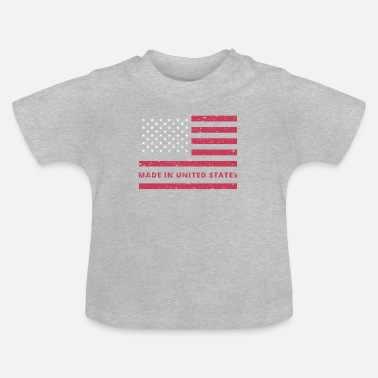 United States USA-lippu / Made in United States - Vauvan t-paita