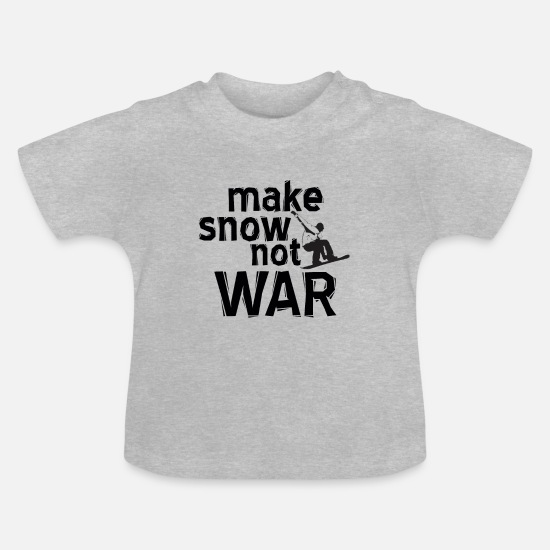 Group Baby Clothes - Snow no war - Baby T-Shirt heather grey