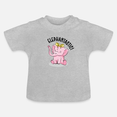 Sweet Pink Elephant - Kids and Baby Design - Baby T-shirt
