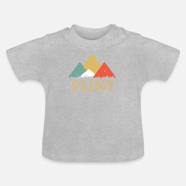 Flint Retro City of Flint Mountain Shirt - Baby T-Shirt