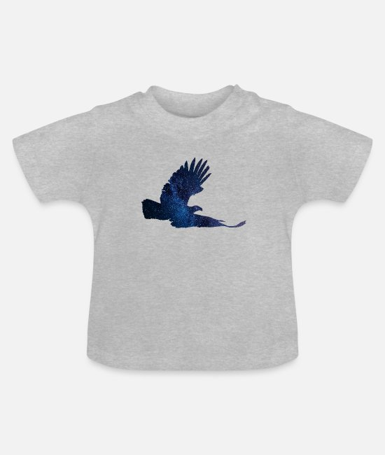 Nature Baby T-Shirts - Sea eagle starry sky - Baby T-Shirt heather grey