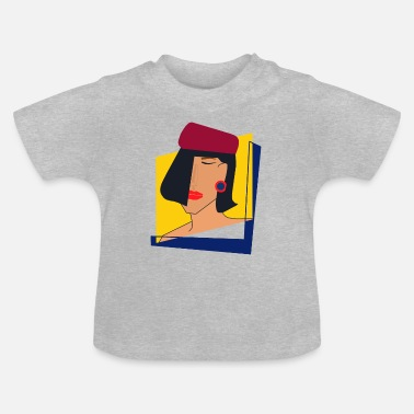 Magazine Lady in Vogue magazine - Baby T-Shirt