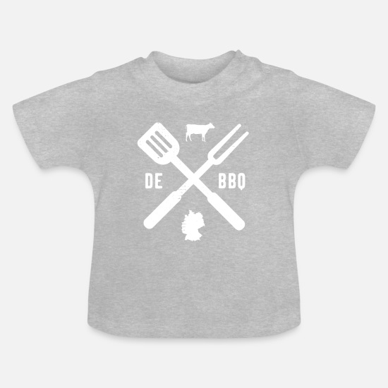 Bbq Baby Clothes - BBQ Barbecue Grill Barbecue season Germany - Baby T-Shirt heather grey
