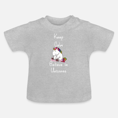 Officialbrands Keep believe in unicorn unicorn horse unicorns - Baby T-Shirt