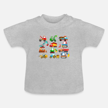 Vehicle Construction site vehicles and tractors kids shirt - Baby T-Shirt
