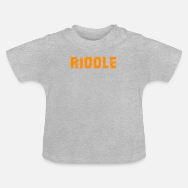 Riddle RIDDLE Orange - Baby T-Shirt