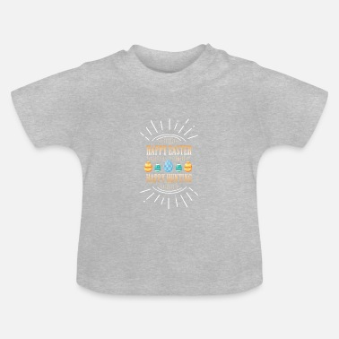 Carrot Happy Easter. Happy easter eggs search - Baby T-Shirt