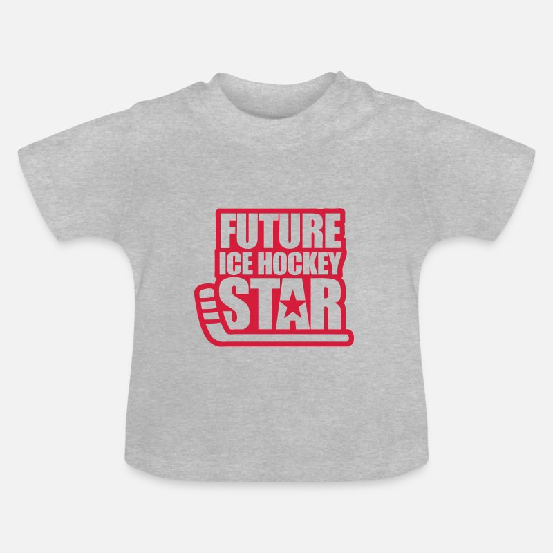 Ice Baby Clothing - Future Ice Hockey Star - Baby T-Shirt heather grey