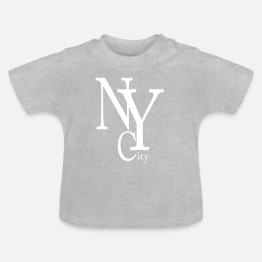 Ny New York City blanc - T-shirt Bébé