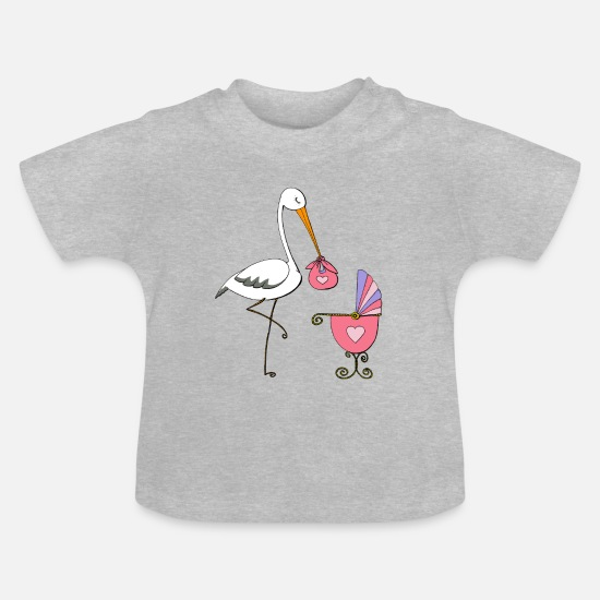 Gift Idea Baby Clothes - The wonderful girl delivery - Baby T-Shirt heather grey