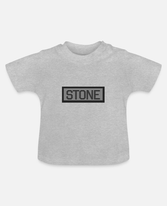 Mountains Baby T-Shirts - Stone - Baby T-Shirt heather grey