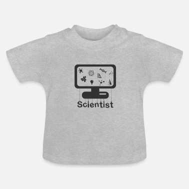 Monitoring Scientist on monitor - Scientist on monitor - Baby T-Shirt