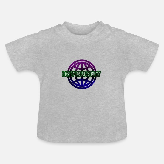 Wireless Baby Clothes - Internet - Baby T-Shirt heather grey