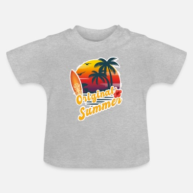 Summer Ts & Tanks Summer, Palm Surfing, Summer TS, Gift - Baby T-Shirt
