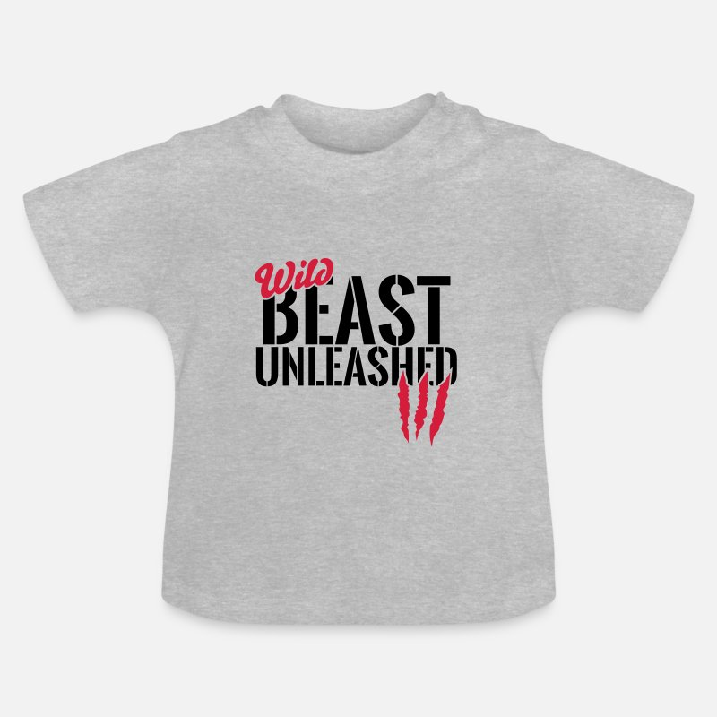 Bestsellers Q4 2018 Baby Clothing - Wild animal unleashed - Baby T-Shirt heather grey