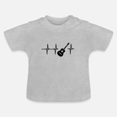 Beat Guitar A HEART IS BEATING FOR THE GUITAR - Baby T-Shirt