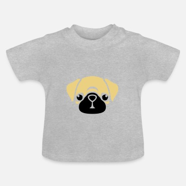Unbelievables Mops Puggy - T-shirt Bébé