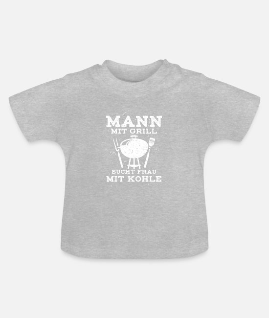 Legend Baby Clothes - Barbecues BBQ season BBQ apron BBQ - Baby T-Shirt heather grey