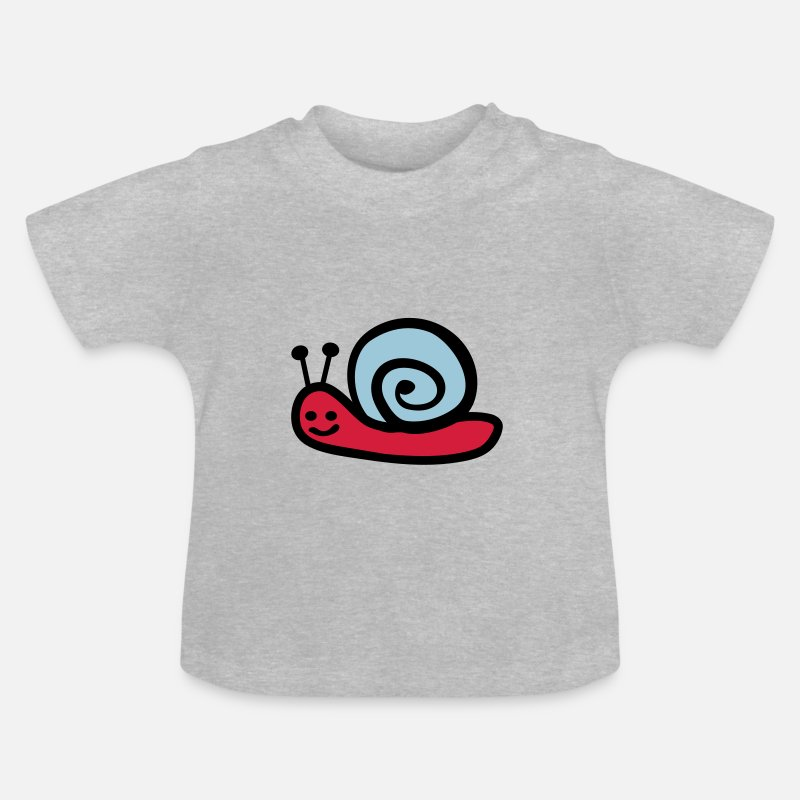 Snail Baby Clothing - snail - Baby T-Shirt heather grey
