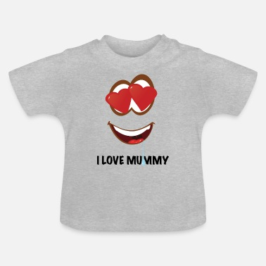 Hjärtögon Jag älskar Mummy Smiley - drool EDITION - Baby-T-shirt