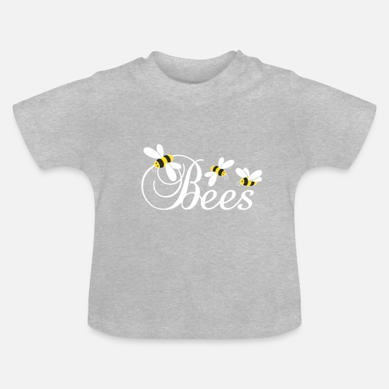 Honey Baby Clothes - Bees, bees, honey - Baby T-Shirt heather grey