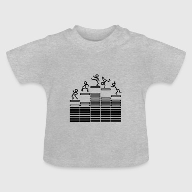 Audio Dance on Equalizer T-shirts Bébés - T-shirt Bébé