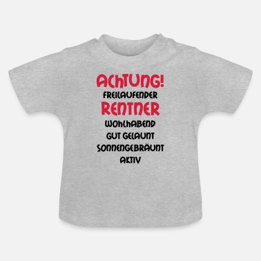 Grandad Underwear Warning freewheeling retirees, wealthy, well- - Baby T-Shirt