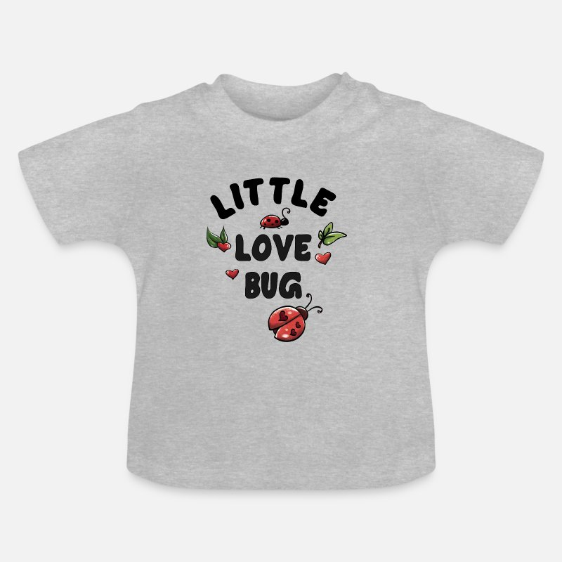 Kid Baby Clothing - Little Love Bug - Baby T-Shirt heather grey