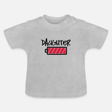 Batterie Daughter Batterie full -Tochter volle Energie-Baby - Baby T-Shirt