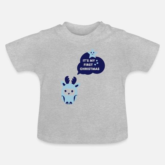 Babykleding Eerste Kerst.Mijn Eerste Kerst Baby T Shirt Spreadshirt