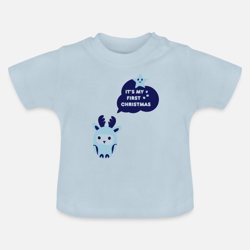 Mijn Eerste Kerst Baby T Shirt Spreadshirt