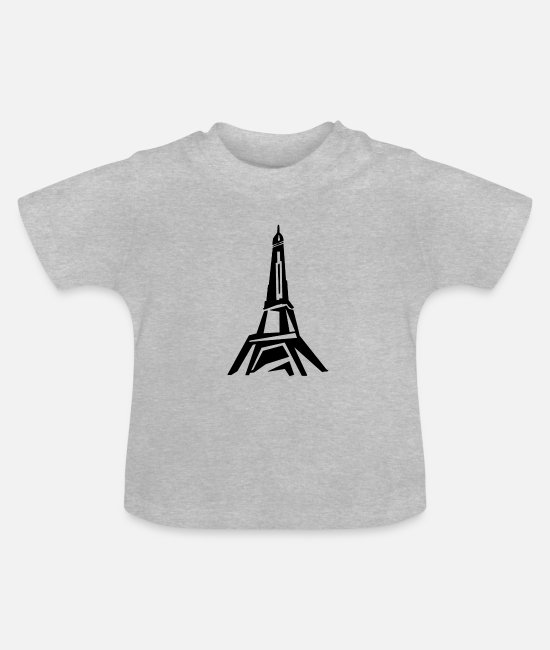 Monument Baby T-Shirts - Paris - Baby T-Shirt heather grey