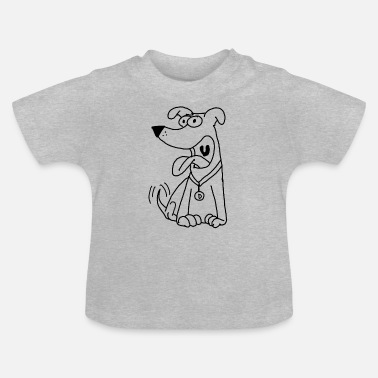 Dog Friendly friendly dog in comic style - Baby T-Shirt