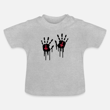 Hand Retreating Bloody Handprints - Baby T-Shirt