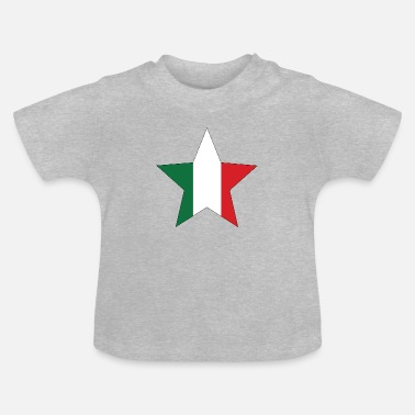 Italy Italy flag star with black frame - Baby T-Shirt
