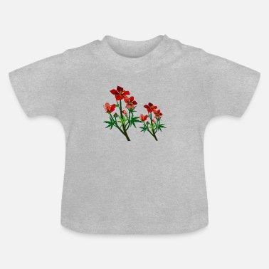 Wild Red Cayenne Flowers - Baby T-Shirt