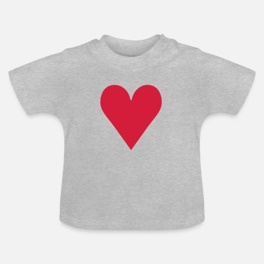 Serce Heart / love - T-shirt Bébé