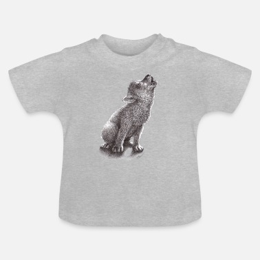 Young Howling Wolf - Baby T-Shirt