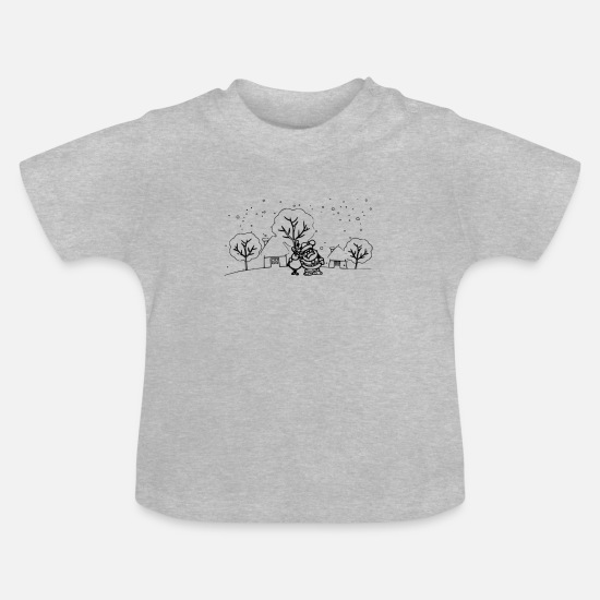 Santa Baby Clothes - santa - Baby T-Shirt heather grey