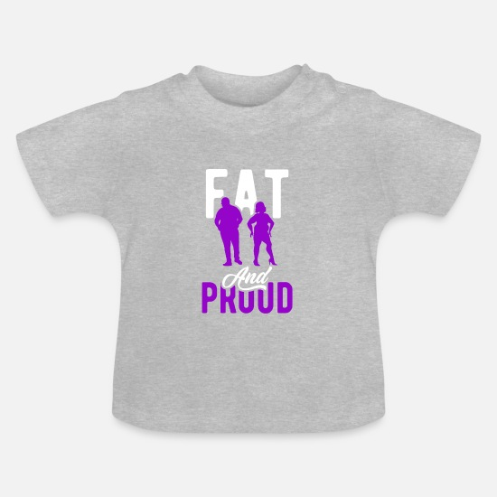 Christmas Present Baby Clothes - Fat man fat - Baby T-Shirt heather grey