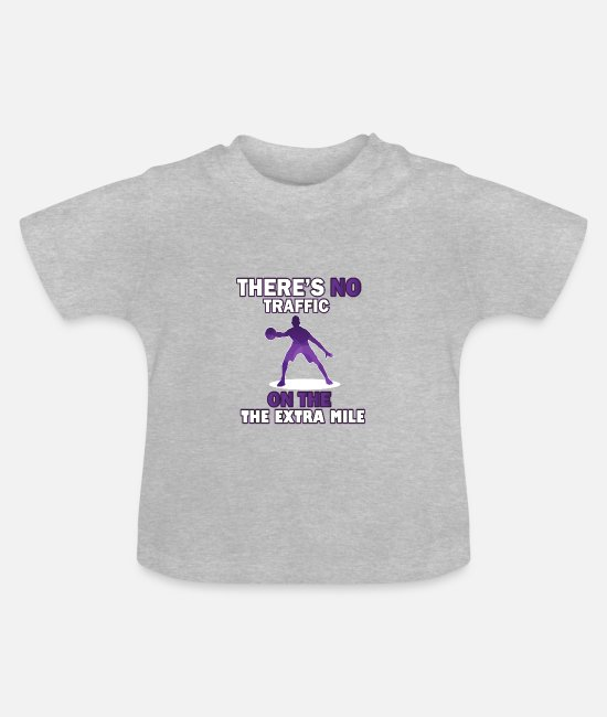 Basketball Player Baby T-Shirts - Run the extra mile basketball - Baby T-Shirt heather grey