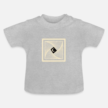 Mystical Moon and the sacred geometry - Baby T-Shirt